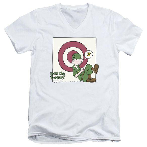 Beetle Bailey Target Nap Short Sleeve Adult V Neck T-Shirt