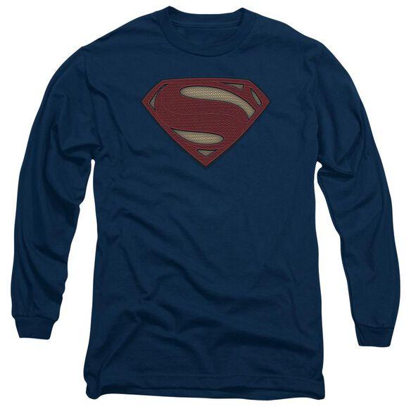 Batman V Superman Super Movie Logo Long Sleeve Adult T-Shirt