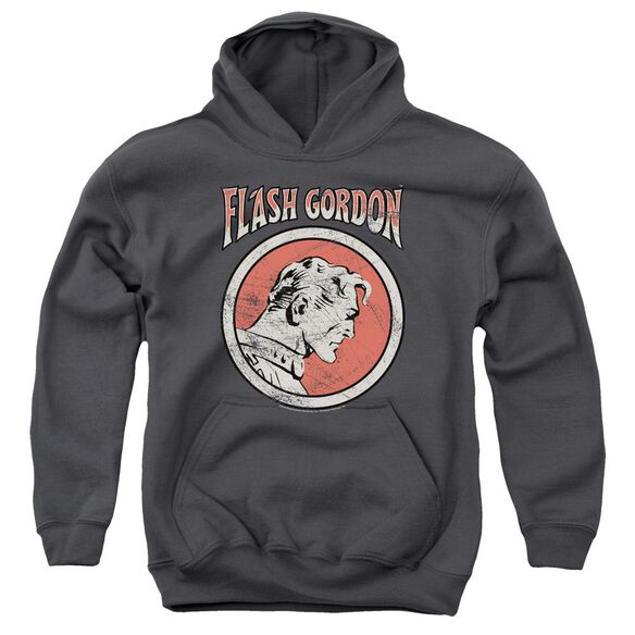 Flash Gordon Flash Circle Youth Pull Over Hoodie