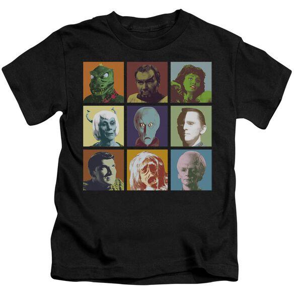Star Trek Alien Squares Short Sleeve Juvenile Black Md T-Shirt