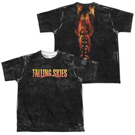 Falling Skies Harness (Front Back Print) Short Sleeve Youth Poly Crew T-Shirt