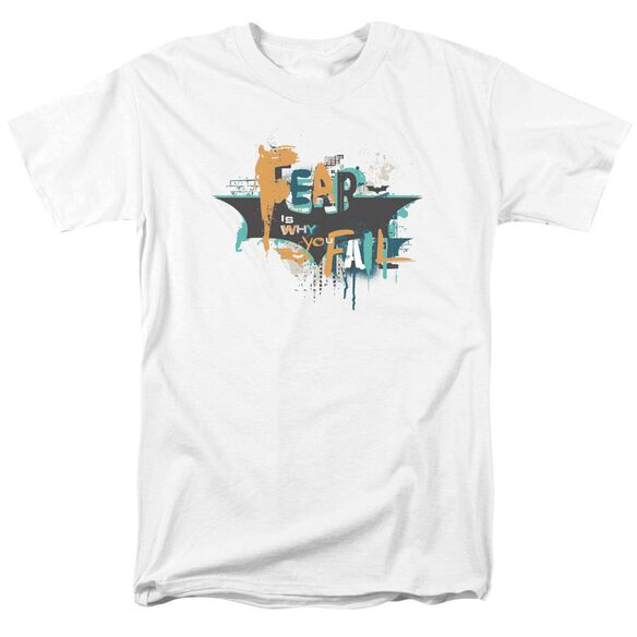 Dark Knight Rises No Fear Short Sleeve Adult White T-Shirt