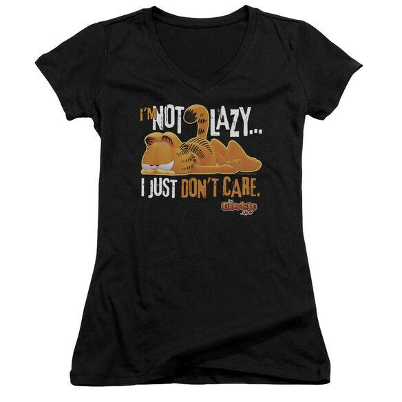 Garfield Not Lazy Junior V Neck T-Shirt