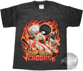 Chop Socky Chooks Flame Kicks Youth T-Shirt