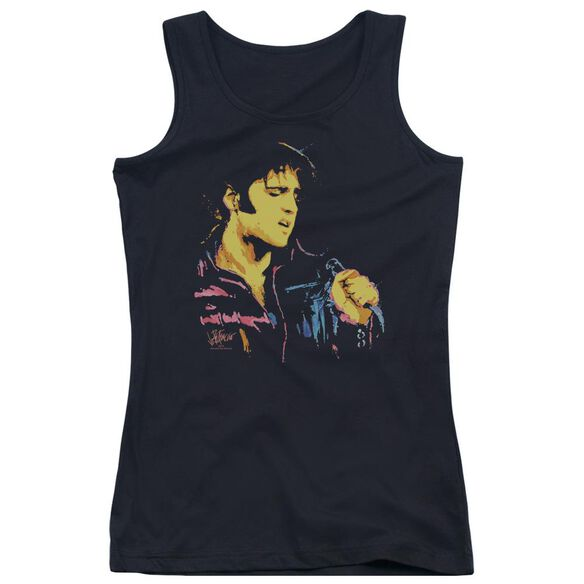 Elvis Presley Neon Elvis Juniors Tank Top