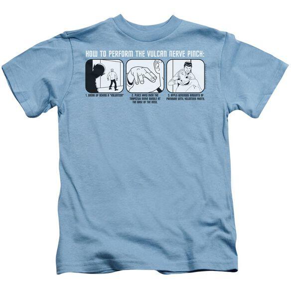 St:Original Vulcan Nerve Pinch Short Sleeve Juvenile Carolina Blue T-Shirt