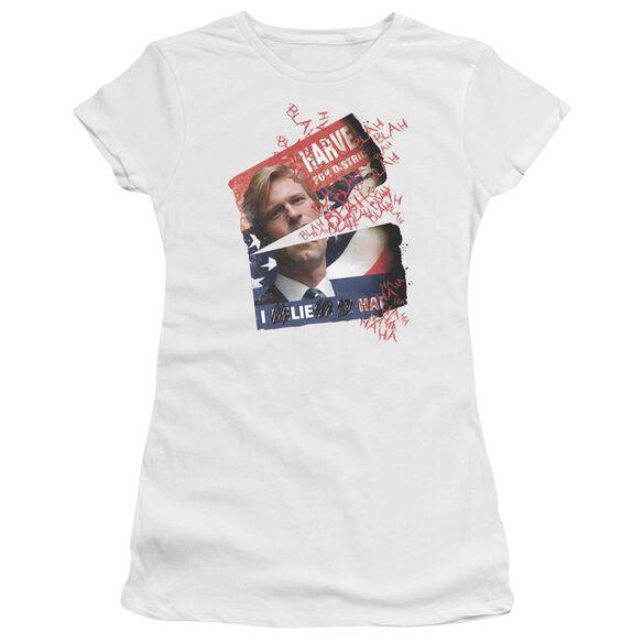 Dark Knight Defiled Campaign Poster Short Sleeve Junior Sheer T-Shirt