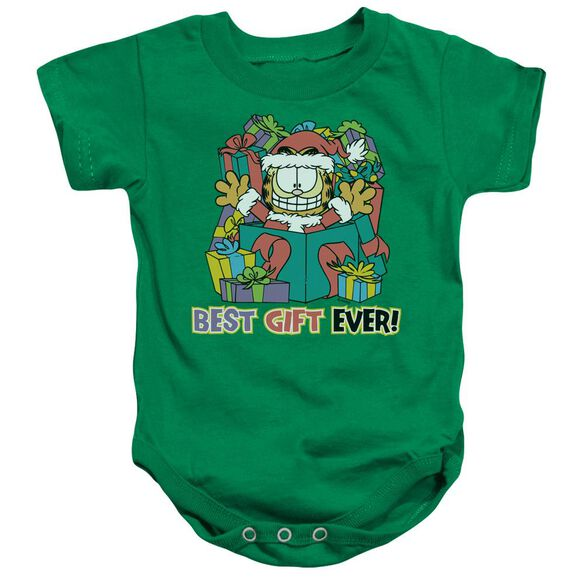 Garfield Best Gift Ever-infant Snapsuit-kelly