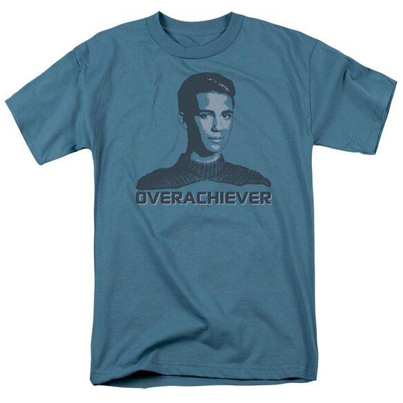 Star Trek Overachiever Short Sleeve Adult Slate T-Shirt