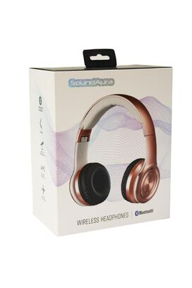 SoundAura SAHB239 Wireless Bluetooth Headphones [Rose Gold]