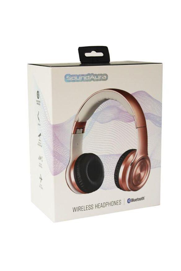 SoundAura SAHB239 Wireless Bluetooth Headphones [Rose Gold]