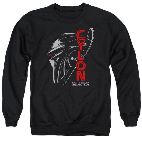 Bsg Cylon Face Adult Crewneck Sweatshirt