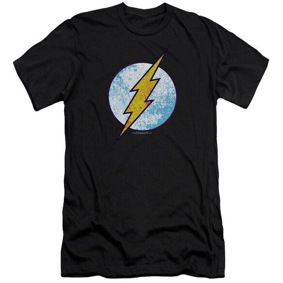 Dc Flash Flash Neon Distress Logo-premuim Canvas Adult Slim