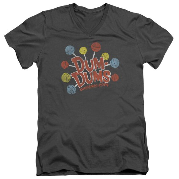 DUM DUMS ORIGINAL POPS - S/S ADULT V-NECK 30/1 - CHARCOAL T-Shirt