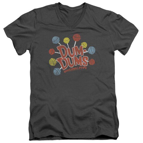 Dum Dums Original Pops Short Sleeve Adult V Neck T-Shirt