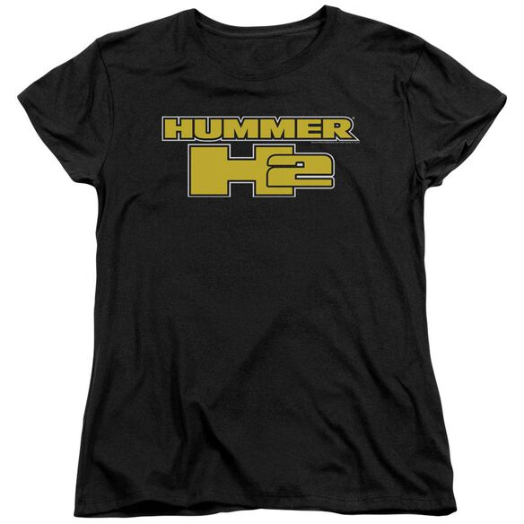 Hummer H2 Block Logo Short Sleeve Womens Tee T-Shirt