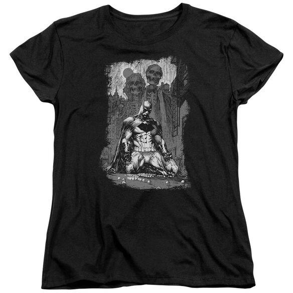 Batman Sketchy Shadows Short Sleeve Womens Tee T-Shirt
