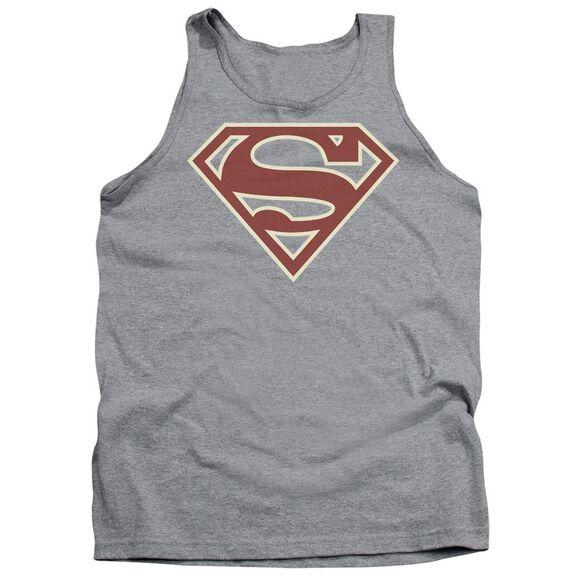 Superman Crimson & Cream Shield Adult Tank Athletic