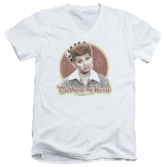 I Love Lucy Current Mood Short Sleeve Adult V Neck T-Shirt