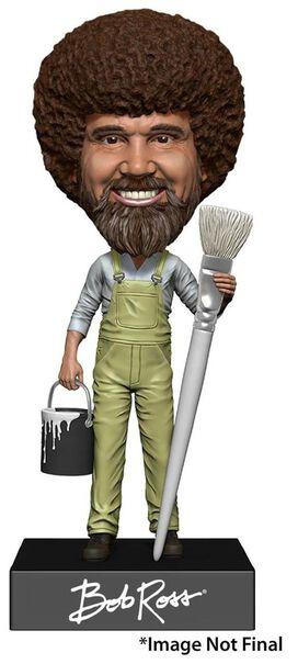 NECA Head Knocker Bob Ross Bobble Head