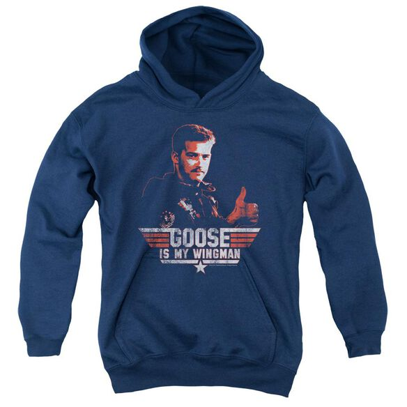 Top Gun Wingman Goose Youth Pull Over Hoodie