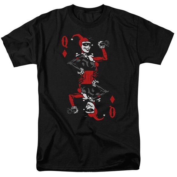 Batman Quinn Of Diamonds Short Sleeve Adult T-Shirt