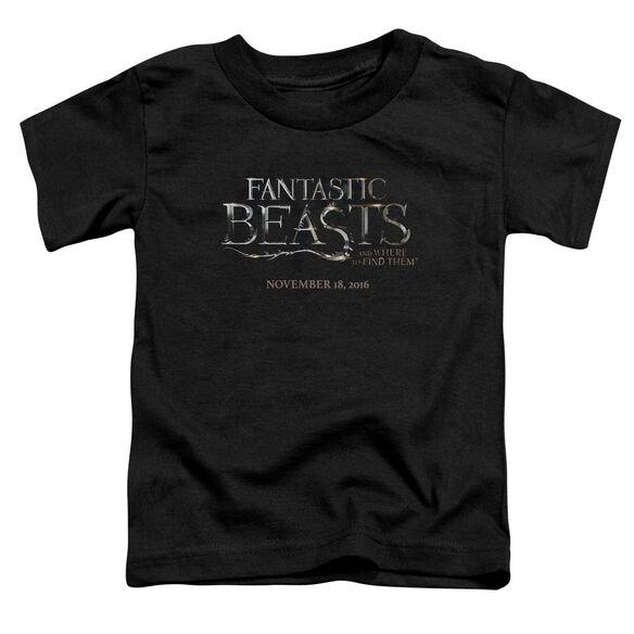 Fantastic Beasts Logo Short Sleeve Toddler Tee Black T-Shirt