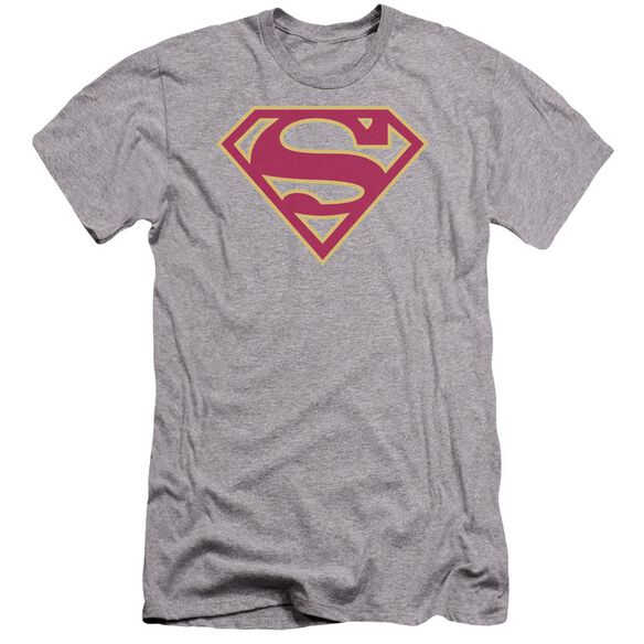 Superman Red & Gold Shield Premuim Canvas Adult Slim Fit Athletic