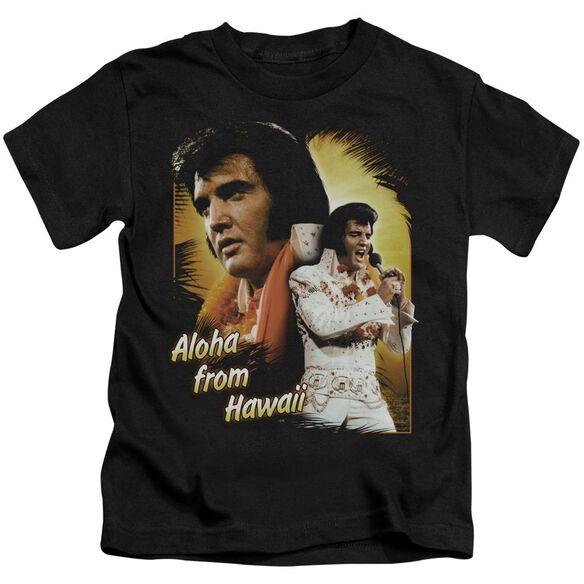 Elvis Aloha Short Sleeve Juvenile Black Md T-Shirt