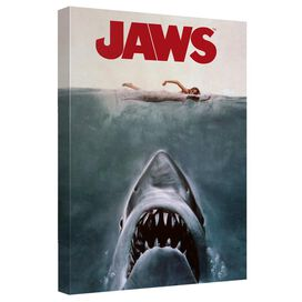 Jaws Jaws Poster Canvas Wall Art With Back Board