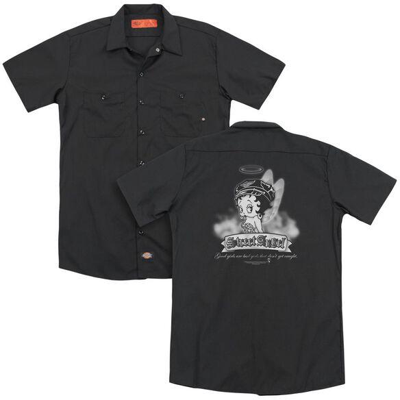Betty Boop Street Angel (Back Print) Adult Work Shirt