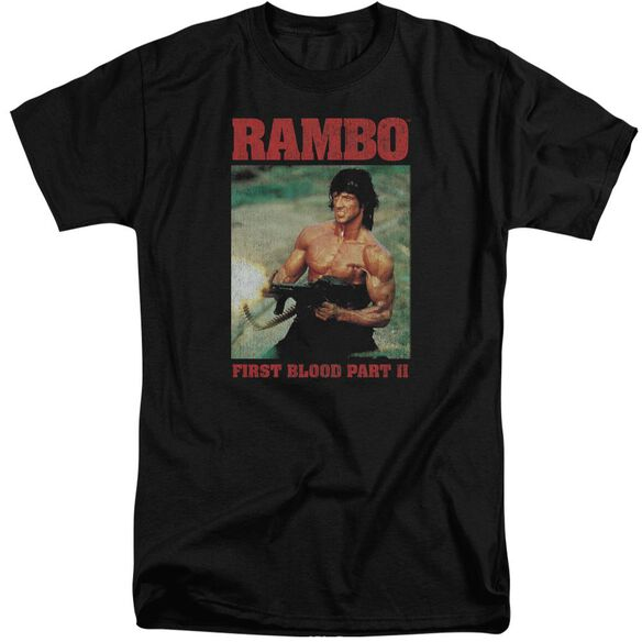 Rambo:First Blood Ii Dropping Shells Short Sleeve Adult Tall T-Shirt