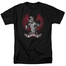 POPEYE UNDEFEATED - S/S ADULT 18/1 - BLACK T-Shirt