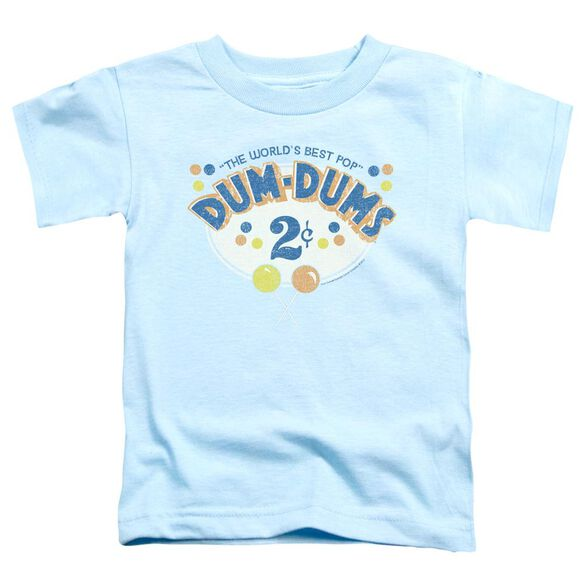 Dum Dums 2 Cents Short Sleeve Toddler Tee Light Blue Sm T-Shirt
