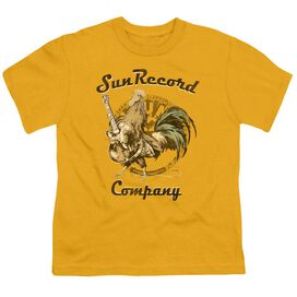 Sun Rockin Rooster Logo Short Sleeve Youth Athletic T-Shirt