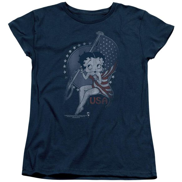 Betty Boop Proud Betty Short Sleeve Womens Tee T-Shirt