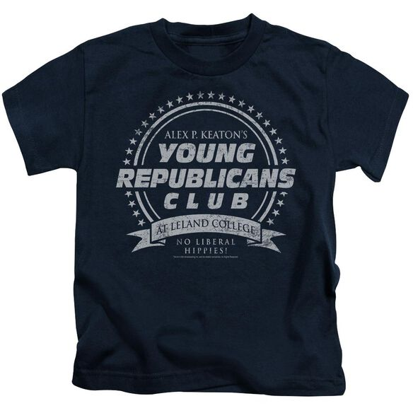 Family Ties Young Republicans Club Short Sleeve Juvenile Navy T-Shirt