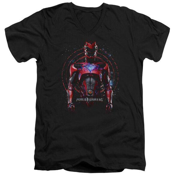 Power Rangers Red Ranger Short Sleeve Adult V Neck T-Shirt