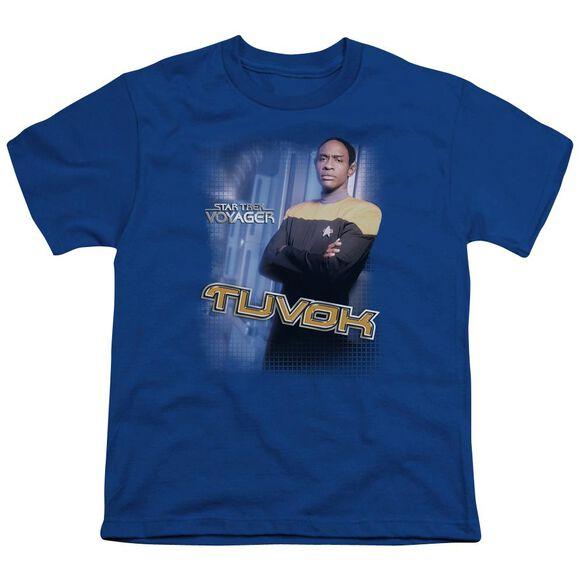 Star Trek Tuvok Short Sleeve Youth Royal T-Shirt