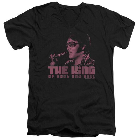 Elvis The King Short Sleeve Adult V Neck T-Shirt