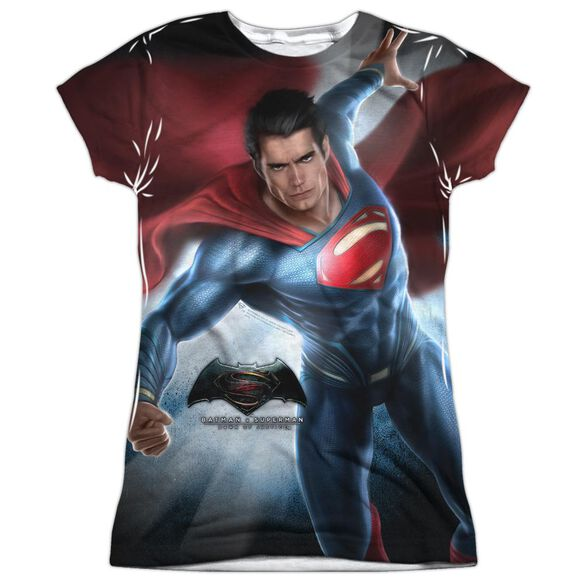 Batman V Superman Superman Light Short Sleeve Junior Poly Crew T-Shirt