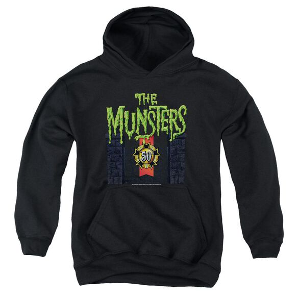 The Munsters 50 Year Logo Youth Pull Over Hoodie