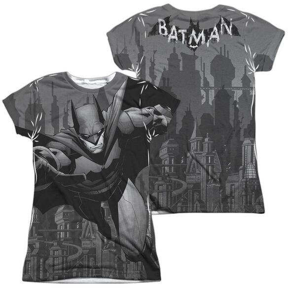 9110adcf30 Batman Grey Race (Front Back Print) Short Sleeve Junior Poly Crew T ...
