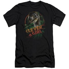 JURASSIC PARK CLEVER GIRL - S/S ADULT 30/1 - BLACK T-Shirt