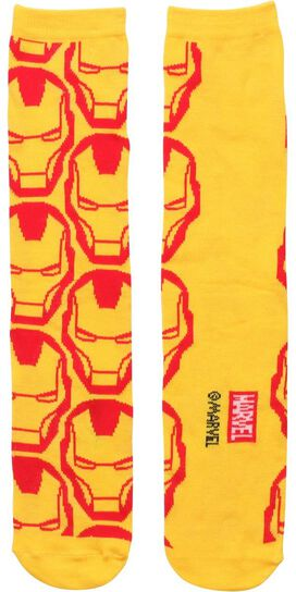 Iron Man Faces All Over Crew Socks