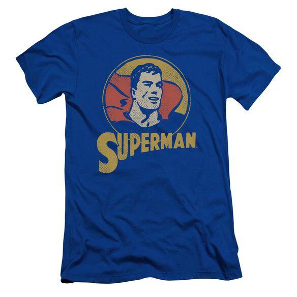 Dc Super Circle Short Sleeve Adult Royal T-Shirt