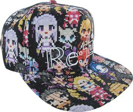 Re Zero 8 Bit Character Sublimated Snapback Hat