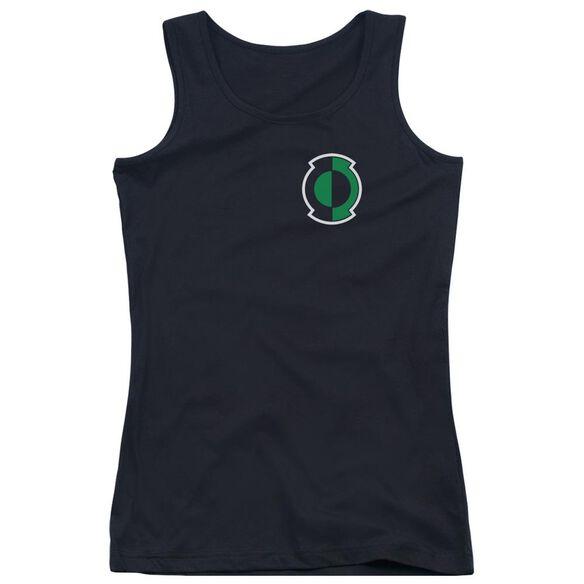 Green Lantern Kyle Logo - Juniors Tank Top - Black