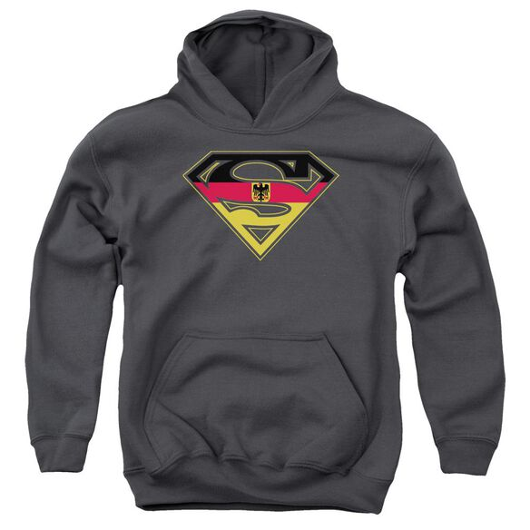 Superman German Shield Youth Pull Over Hoodie