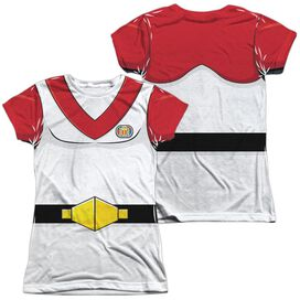 Voltron Keith Costume (Front Back Print) Short Sleeve Junior Poly Crew T-Shirt